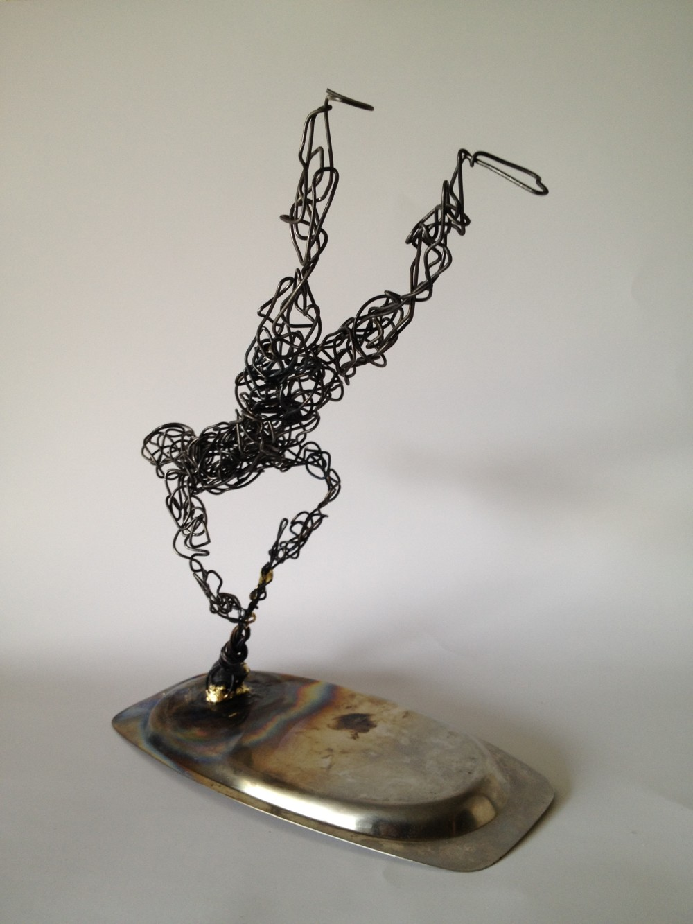 wire sculpture blown away 5 frank marino baker drip