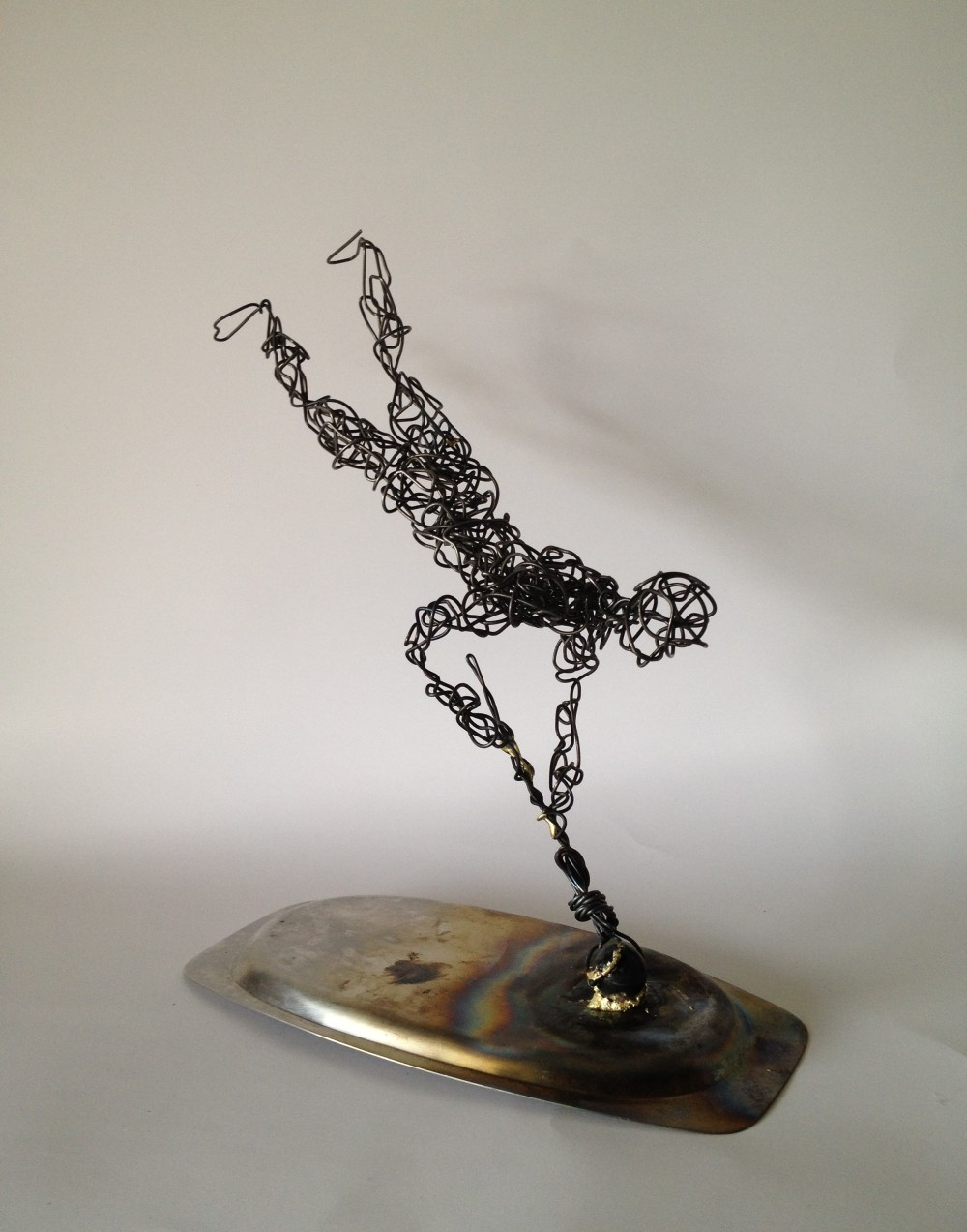 blown away wire sculpture frank m baker wire artist