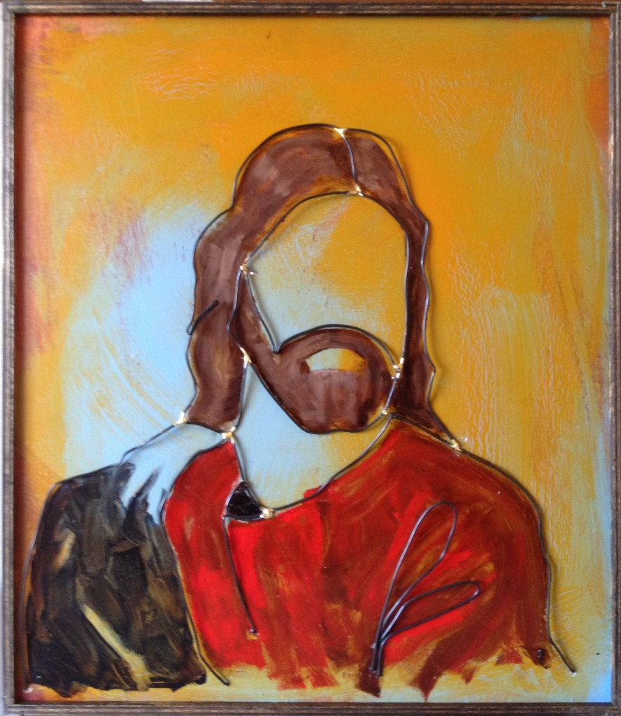 Wire and oil painting - the desguise of Christ