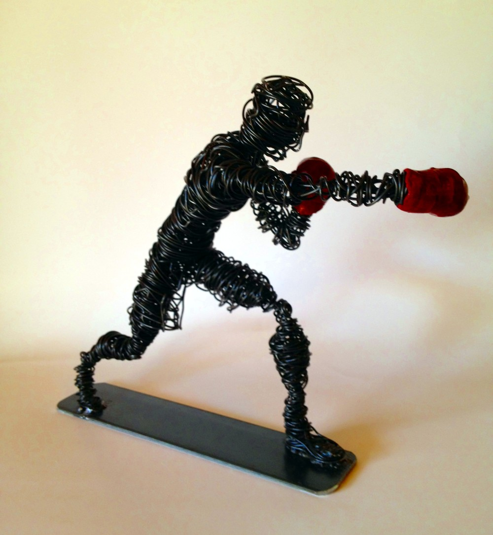 Wire Art Boxer Wire Sculpture Frank Marino Baker Drip Wire Art