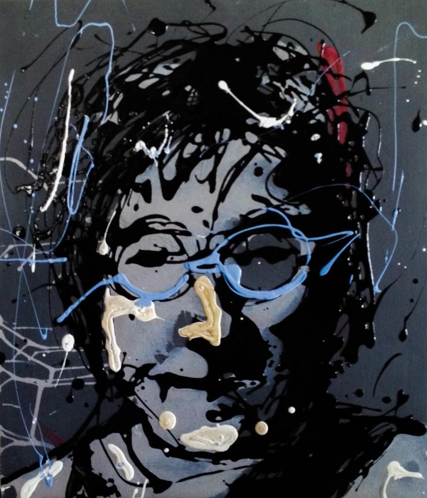 John Lennon Drip Painting