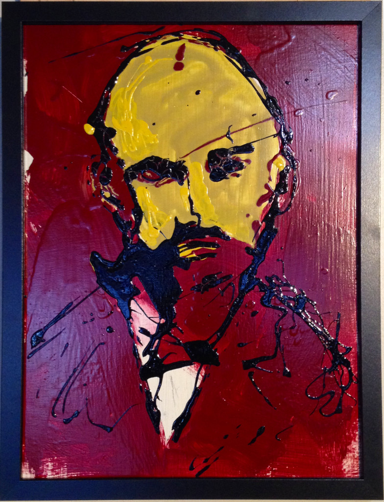 Lennon Red Drip painting By Frank Marino Baker