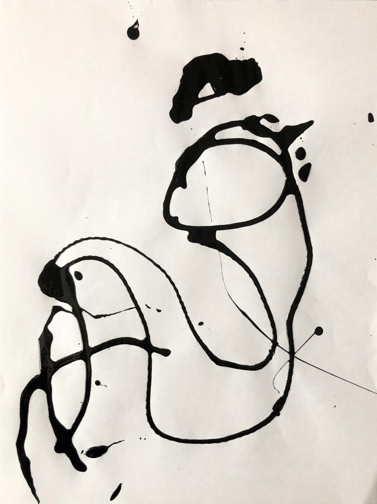 Drip painting By Frank Marino Baker
