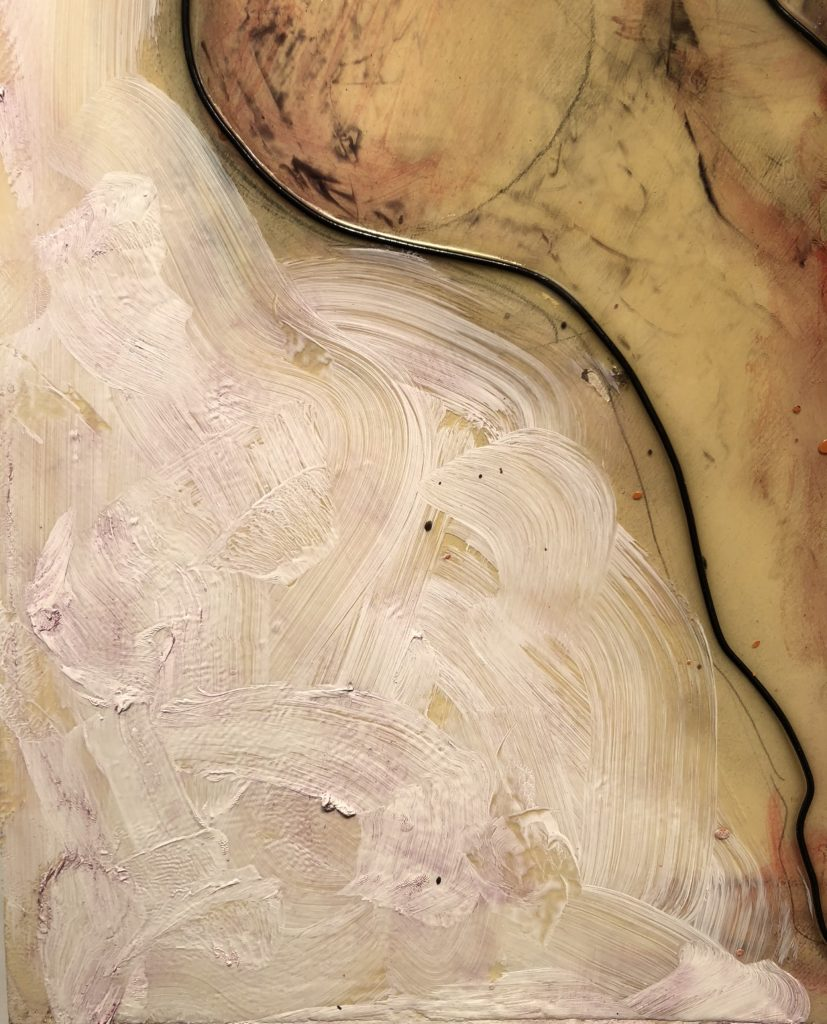 Looking forward  Detail abstract wire art By Frank Marino Baker