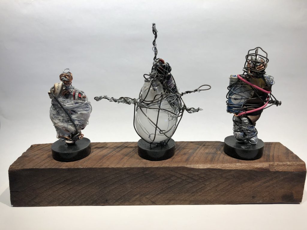 Memory sculpture 16x10x4 wire abstract By Frank Marino Baker